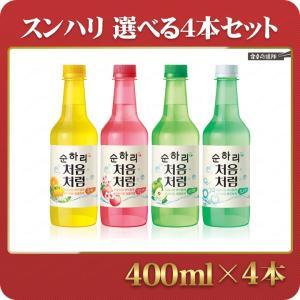 スンハリ 選べる4本セット 400ml×4本 スナリ チョウムチョロム焼酎 韓国焼酎|foodsup