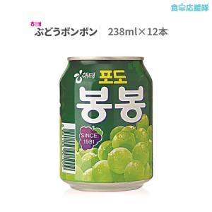 ぶどうジュース ぶどうボンボン 238ml 12缶 韓国 ジュース foodsup