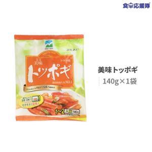 ワンコイン 即席トッポギ 1袋 140g 甘辛 トポッキ メール便 即席食品/簡単料理/激安|foodsup