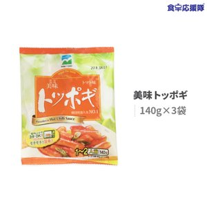 トッポギセット/140g(3分O.K)x3袋 日本再上陸! 即席食品/簡単料理/激安|foodsup