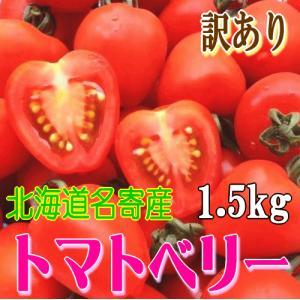 7月下旬発送!北海道名寄産 訳あり完熟トマトベリー バラ詰め 約1.5kg foodwave