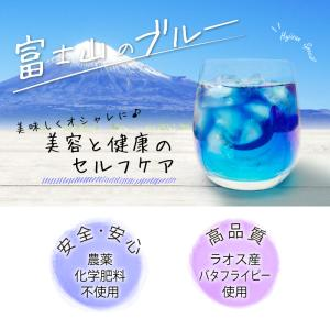 バタフライピー茶 ハーブティー 富士山ブルーティー 12包入り 農薬 化学肥料 不使用 無着色 青いお茶 ブルー ティー foodyamadaya