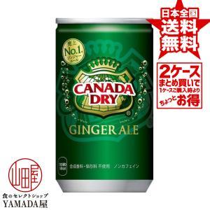 【2ケースセット】 カナダドライ ジンジャーエール 160ml缶 60本(30本×2箱) 炭酸飲料 ペットボトル 日本コカ・コーラ foodyamadaya