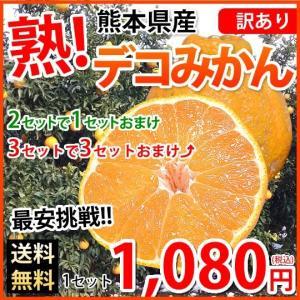 デコポン 同品種 訳ありデコみかん 1.2kg S〜2L 送料無料 2セットで1セットおまけ 3セットで3セットおまけ 熊本県産 ポンカン みかん ミカン 蜜柑