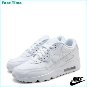 ナイキ エア マックス 90 レザー GS ホワイト/ホワイト 833412-100|foot-time