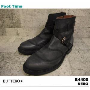 BUTTERO B4400 NERO 【ブッテロ B4400 】 BLACK|foot-time