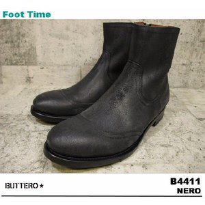 BUTTERO B4411 NERO 【ブッテロ B4411】 BLACK|foot-time