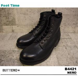 BUTTERO B4421 NERO 【ブッテロ B4421】 BLACK|foot-time