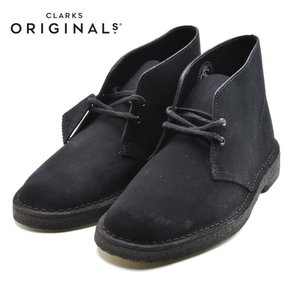 CLARKS DESERT BOOTクラークス デザートブーツ BLACK SUEDE 26107882|foot-time