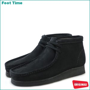 CLARKS WALLABEE BOOTクラークス ワラビー ブーツBLACK SUEDE 35409 26103669|foot-time