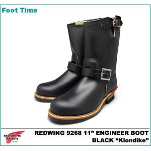 レッドウィング 9268 11インチ エンジニア ブーツ ブラック クローンダイク foot-time