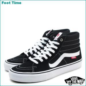 バンズ スケートハイ プロ ブラック/ホワイト VN000VHGY28|foot-time