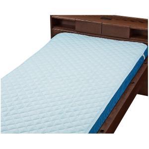 ウェルファン 洗えるベッドパット ポリ ブルー Wレギュラー