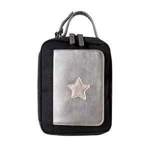 10mois(ディモワ) ワンタッチおむつポーチ(フラップ付き) ブラック 19151004|football-item