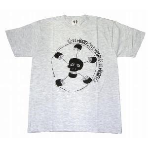 11HEAD ドクロ×サッカーボールTシャツ[アッシュグレー]|footballfan