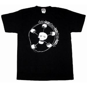 11HEAD ドクロ×サッカーボールTシャツ[ブラック]|footballfan