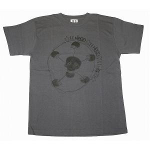 11HEAD ドクロ×サッカーボールTシャツ[チャコールグレー]|footballfan