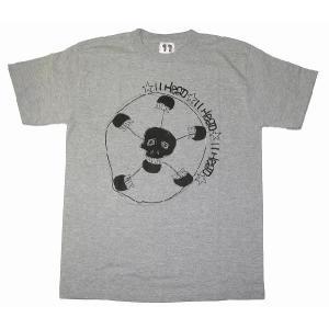 11HEAD ドクロ×サッカーボールTシャツ[グレー]|footballfan