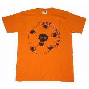 11HEAD ドクロ×サッカーボールTシャツ[オレンジ]|footballfan