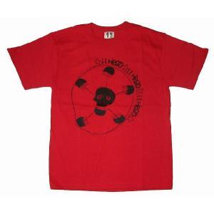 11HEAD ドクロ×サッカーボールTシャツ[レッド]|footballfan