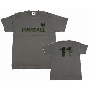 11HEAD FUSSBAL-Tシャツ[チャコールグレー]【ワールドカップ関連】|footballfan