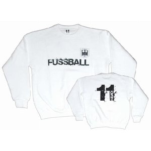 11HEAD ドイツ代表タイプ FUSSBALL トレーナー[ホワイト]【ワールドカップ関連】|footballfan