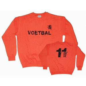 11HEAD オランダ代表タイプ VOETBAL トレーナー[オレンジ]【ワールドカップ関連】|footballfan