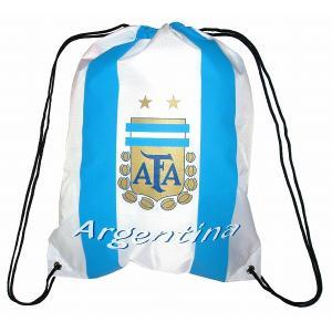 アルゼンチン代表 ナイロンバッグ(白)|footballfan