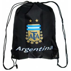 アルゼンチン代表 ナイロンバッグ(黒)|footballfan