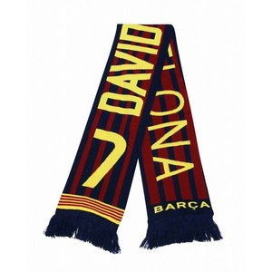 FCバルセロナ(オフィシャル) ニットマフラー(#7ビジャ)|footballfan