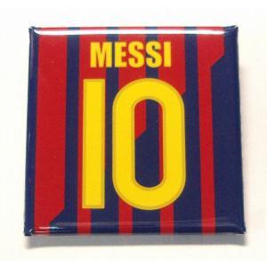 メッシ(FCバルセロナ 10)缶バッジ〔HOME〕|footballfan