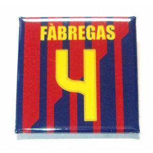 セスクファブレガス(FCバルセロナ 4)缶バッジ〔HOME〕|footballfan