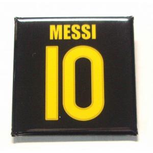 メッシ(FCバルセロナ 10)缶バッジ〔AWAY〕|footballfan