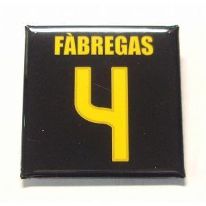 セスクファブレガス(FCバルセロナ 4)缶バッジ〔AWAY〕|footballfan