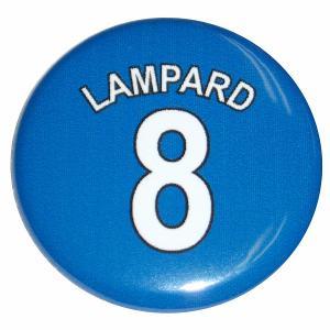 ランパード(チェルシー 8)ユニフォーム缶バッジ|footballfan
