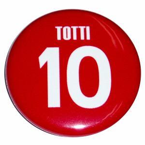 トッティ(ASローマ 10)ユニフォーム缶バッジ|footballfan