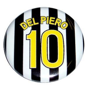 デルピエロ(ユベントス 10)ユニフォーム缶バッジ|footballfan