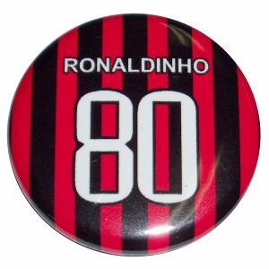 ロナウジーニョ(ACミラン 80)ユニフォーム缶バッジ|footballfan