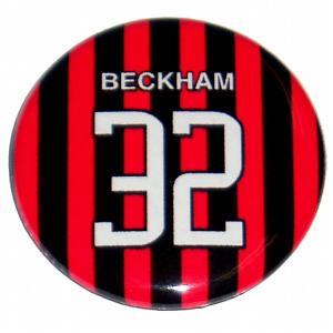 デビット・ベッカム(ACミラン 32)ユニフォーム缶バッジ|footballfan