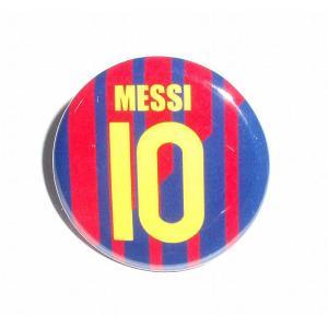 メッシ(FCバルセロナ 10)ユニフォーム缶バッジ〔HOME〕|footballfan