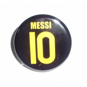 メッシ(FCバルセロナ 10)ユニフォーム缶バッジ〔AWAY〕|footballfan