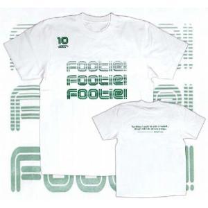 diego 『FOOTIE! FOOTIE! FOOTIE!』 Tシャツ(ホワイト)|footballfan