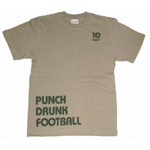 diego PUNCH DRUNK FOOTBALL Tシャツ(サンドカーキ)|footballfan