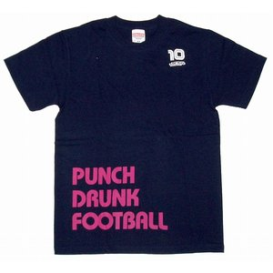 diego PUNCH DRUNK FOOTBALL Tシャツ(紺)|footballfan