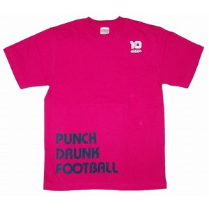 diego PUNCH DRUNK FOOTBALL Tシャツ(ピンク)|footballfan