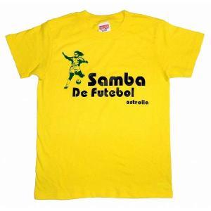 【estrella】 Samba do futbol ロナウジーニョ Tシャツ(イエロー)|footballfan