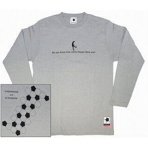 f.c. Thomas 「Kick the Football!」 長袖Tシャツ グレー|footballfan