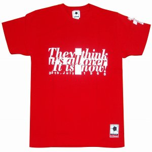 f.c.Thomas イングランド「it's all over it is now」 Tシャツ レッド|footballfan