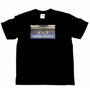 SEMPRE MILANO インテルミラノ Tシャツ(黒)|footballfan