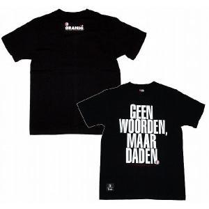 GRANDE×フェイエノールトTシャツGEEN WOORDEN MAARDADEN[ブラック]|footballfan